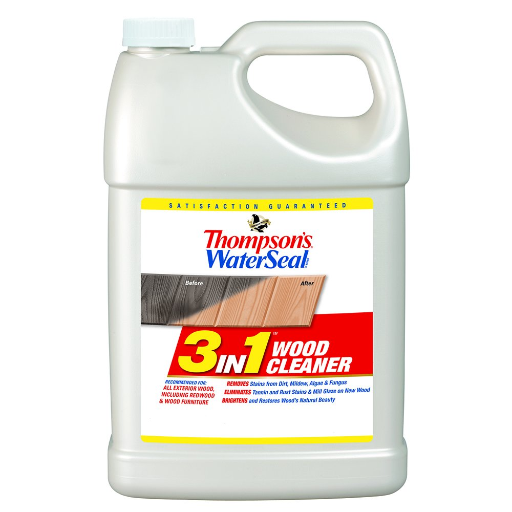 Thompson's Water Seal TH.074871-16 3 in 1 Wood Cleaner, 1 Gallon
