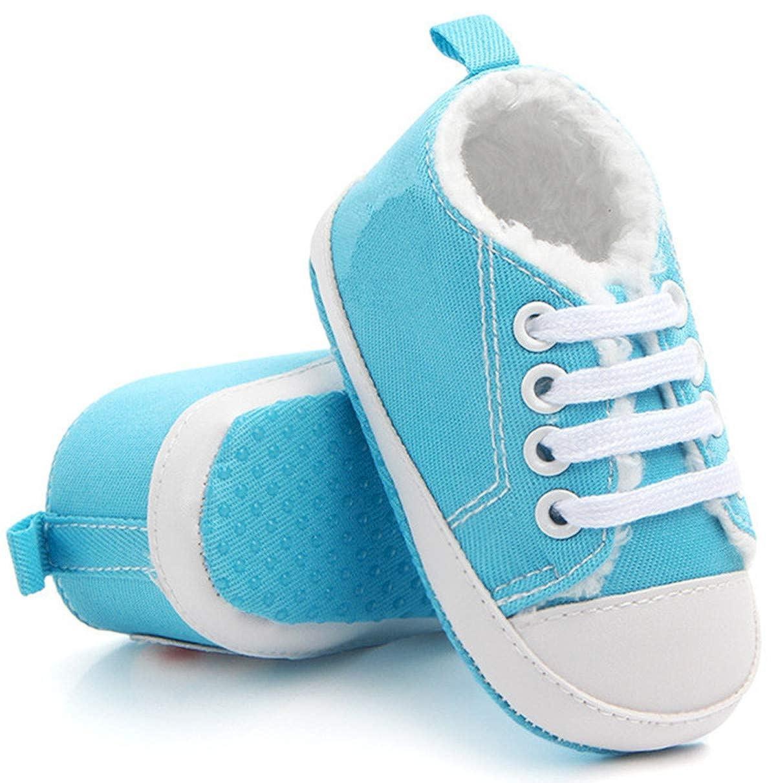 Newborn Infant Baby Warm Boys Girls Boots Canvas Soft Sole Anti-Slip Boy Shoes Boots Wool Velvet