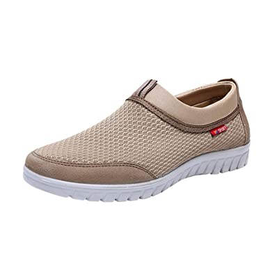 GongzhuMM Mocassins Homme Respirant Chaussures de Ville Léger Chaussures de  Sport Sneakers Mesh Espadrilles Chaussures de 0fc38e677ba2