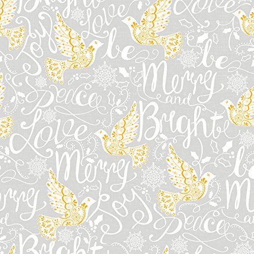 Jillson Roberts 6 Roll-Count Winter Classics Christmas Gift Wrap Available in 11 Designs, All is Bright