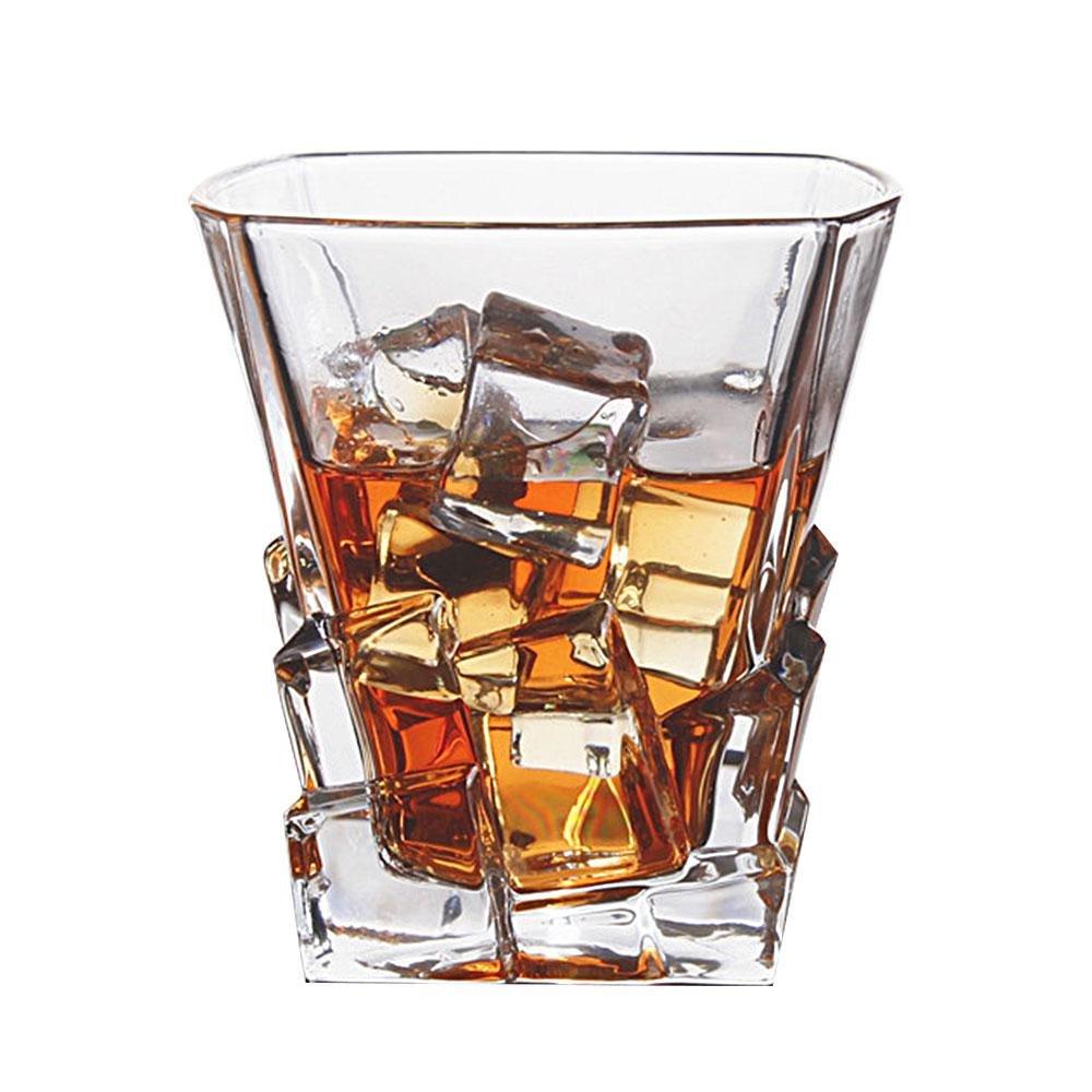 Aolvo Whiskey Glasses - Iceberg Collection - Scotch, Liquor or Bourbon Tumblers, Ultra-Clarity Glassware, Elegant, and Dishwasher Safe