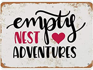 BYRON HOYLE Quotes Vintage Metal Tin Signs,Empty Nest Adventures Rustic Wall Art,Iron Wall Hanging Decor,Retro Garage Yard Home Cafe Bar Club Hotel Wall Decoration Signs