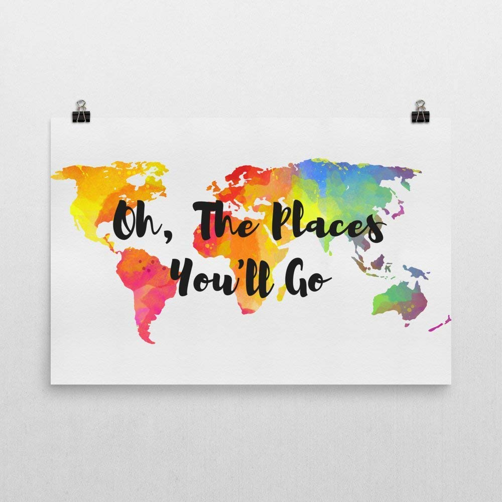 Modern map art oh the places youll go wall art oh the places you will go map oh the places youll go art travel quotes quote prints quotes poster