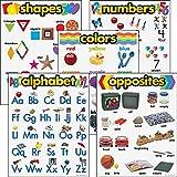 Trend Enterprises 38920 Learning Chart Combo Packs, Kindergaten Basics, 18'' x 27 1/4'', 5/Set