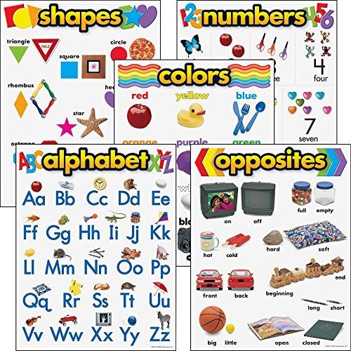 - Trend Enterprises 38920 Learning Chart Combo Packs, Kindergaten Basics, 18
