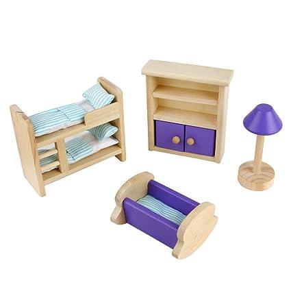 Muebles Miniatura Conjunto de Habitacion de Juguete-4 Piezas Casa de ...