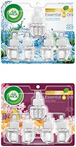 Air Wick Plug in Scented Oil 5 Refills, Fresh Waters and Summer Delights, (5x0.67oz), Essential Oils, Air Freshener