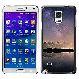 LECELL--Funda protectora / Cubierta / Piel For Samsung Galaxy Note 4 SM-N910 -- Snow Mountains Antarctica Sky --