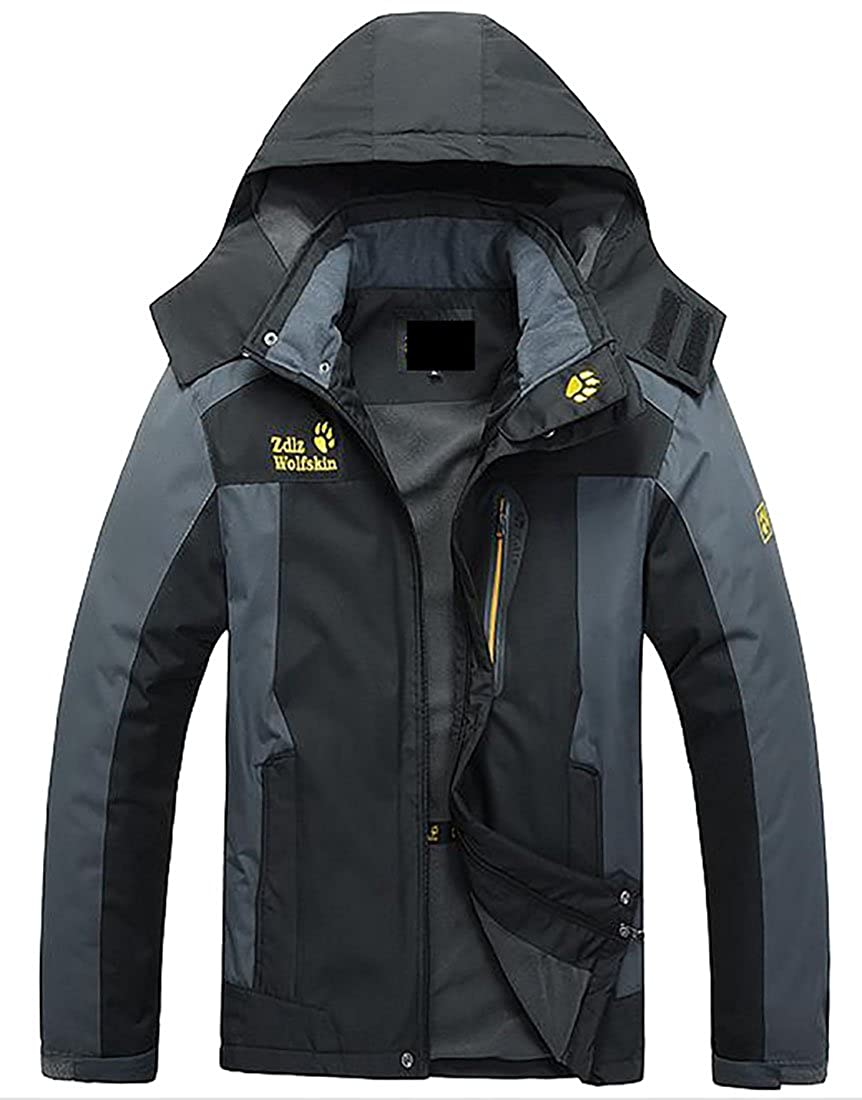 Smeiling Mens Raincoat Sportswear Outdoor Hoodie Jackets
