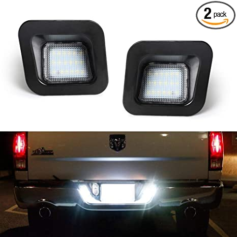 Amazon GemPro 2pcs LED License Plate Light Lamp Assembly For