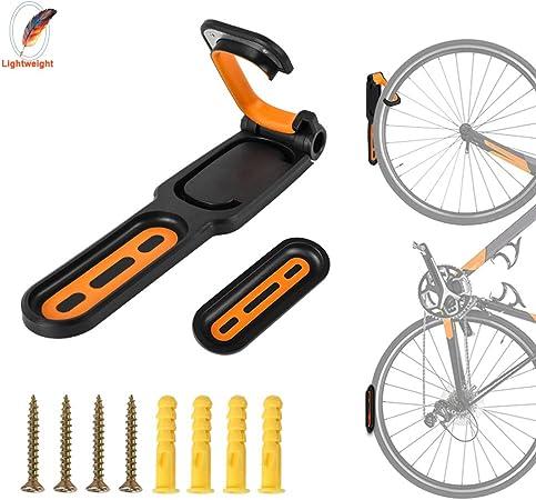BBYaki Conjunto de Bastidor Montaje en Pared para Bicicleta, Soporte Gancho Soporte Almacenamiento en Garaje Interior MTB, Accesorios Ciclismo de Carretera,Naranja: Amazon.es: Hogar