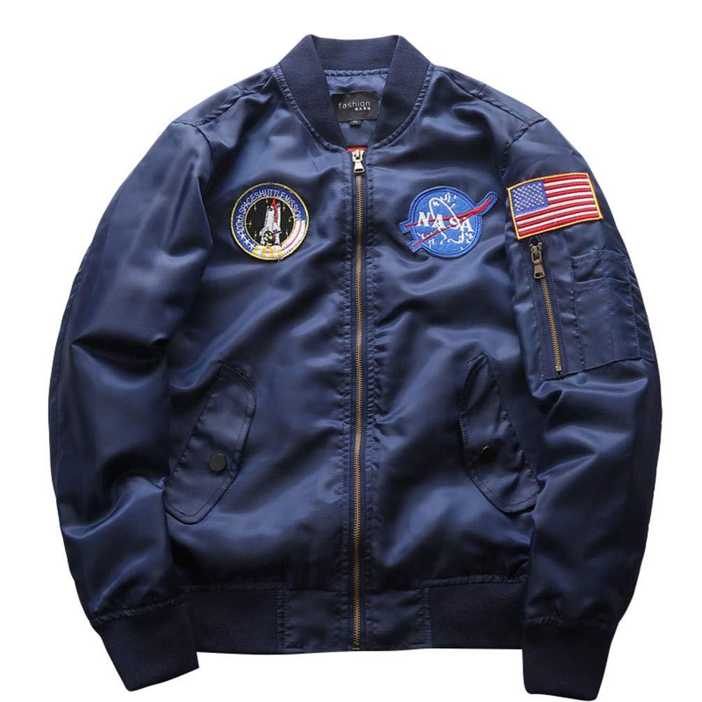 WanYangg Chaqueta Bomber Hombre, Hombres Clásico Vintage Casual Al Aire Libre Ligero Bombardero Militar Chaquetas Y Abrigos Insignia Bomber Chaqueta Aviador ...