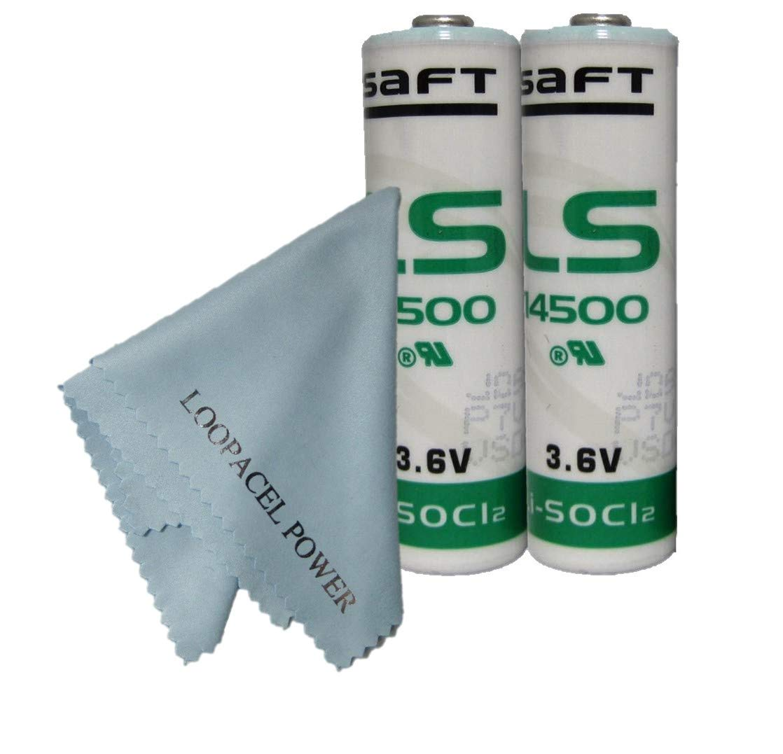 2 SAFT AA 3.6V 2400MAH Lithium Batteries - Not Rechargeable