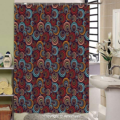 (SCOCICI Abstract,Shower Curtain,Bathroom Fabric Curtains Waterproof Colorful Funny,69