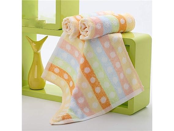 OHlive Brillante Wave Point algodón Absorbente bebé Saliva Toalla Toalla Cara Toalla Espesar Toalla Cuadrada para niños (Naranja): Amazon.es: Hogar
