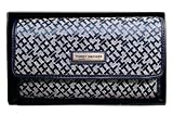 Tommy Hilfiger Wallet Navy Blue Canvas Womans