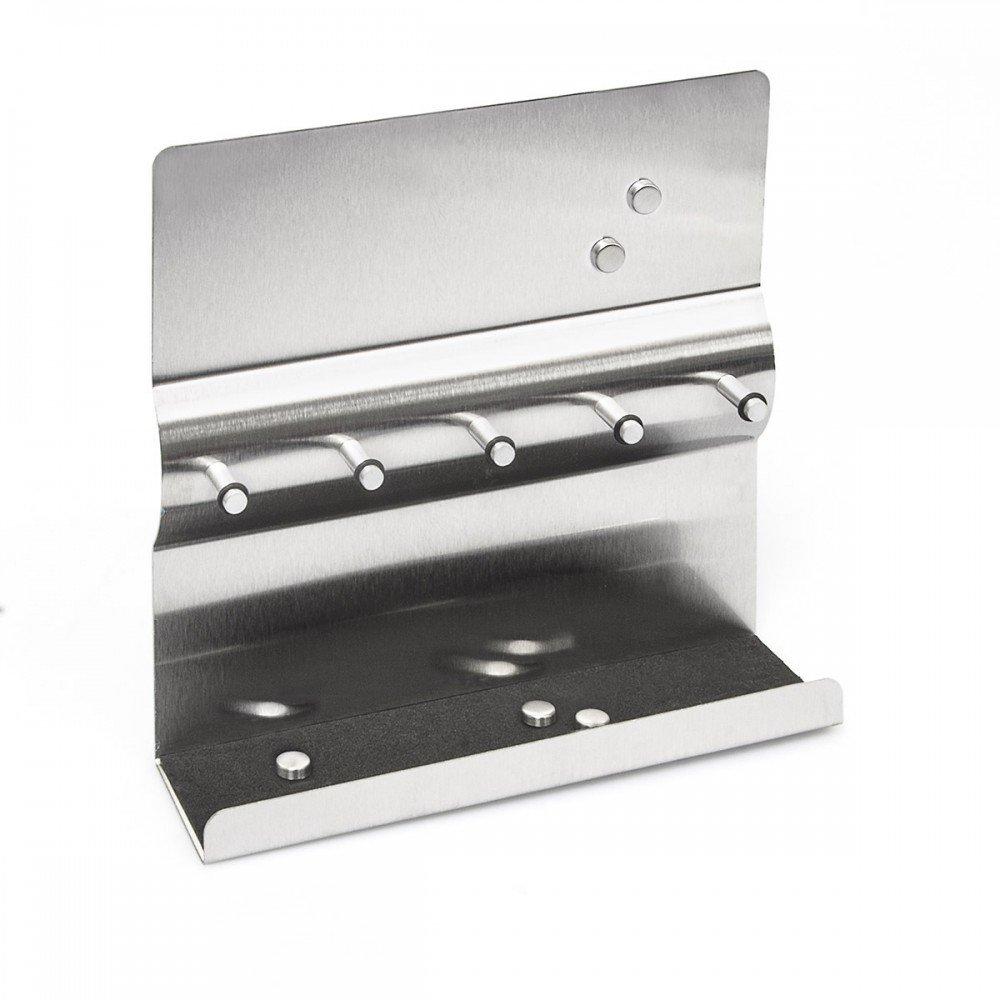 stainless steel key holder hanger hook with magnetic board ebay. Black Bedroom Furniture Sets. Home Design Ideas