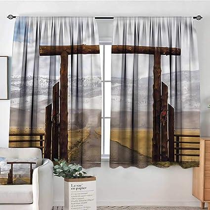 Amazon Com Familytaste Western Kitchen Curtains Montana