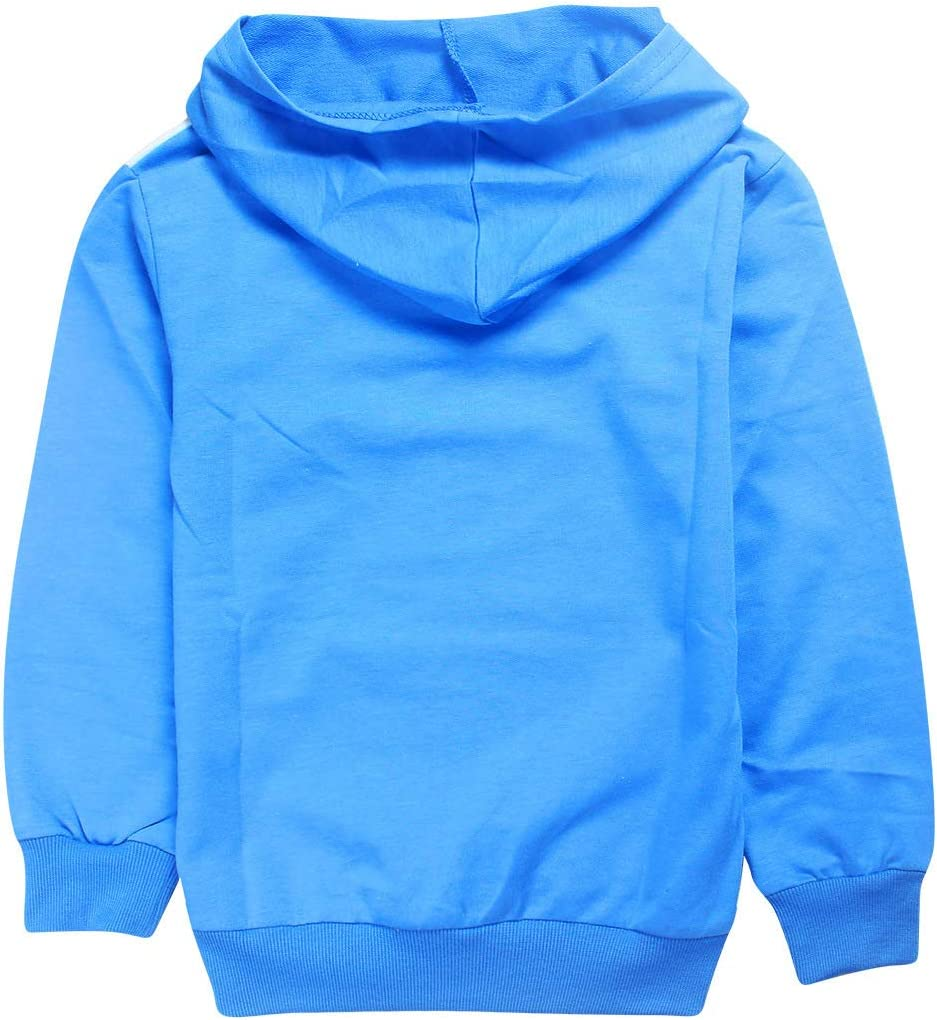 C/&NN Toddler Boys Girls Kids Outfits Popular Cartoon Characters Hoodie Pullover Sweatshirt Tops Pants Clothes Sets,Blue,110cm