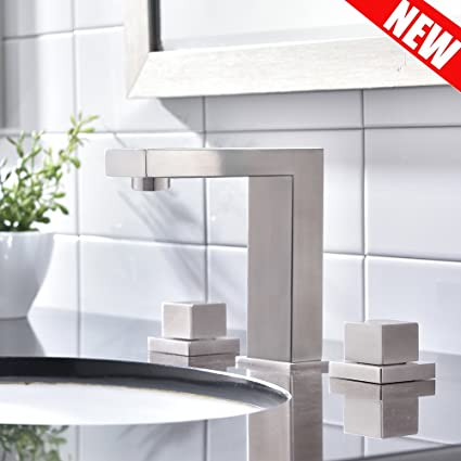 VAPSINT Best Quality Three Holes Two Handle Brushed Nickel Steel - Best quality bathroom fixtures
