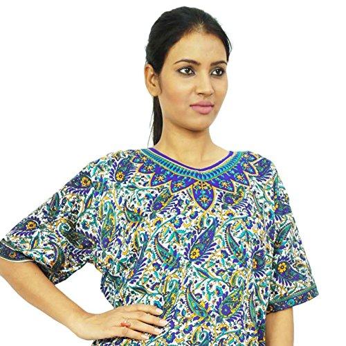 Diseñador indio poliéster Kurti mujeres del desgaste étnico vestido de la túnica floral Casual Multicolor