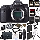 Canon EOS 6D DSLR Camera (Body Only) + Battery + Sony 32GB SDHC Card + Sony 64GB SDXC Card + Canon EOS Shoulder Bag 100ES + Tripod + Flash + Remote + HDMI Cable + Memory Card Wallet + Card Reader