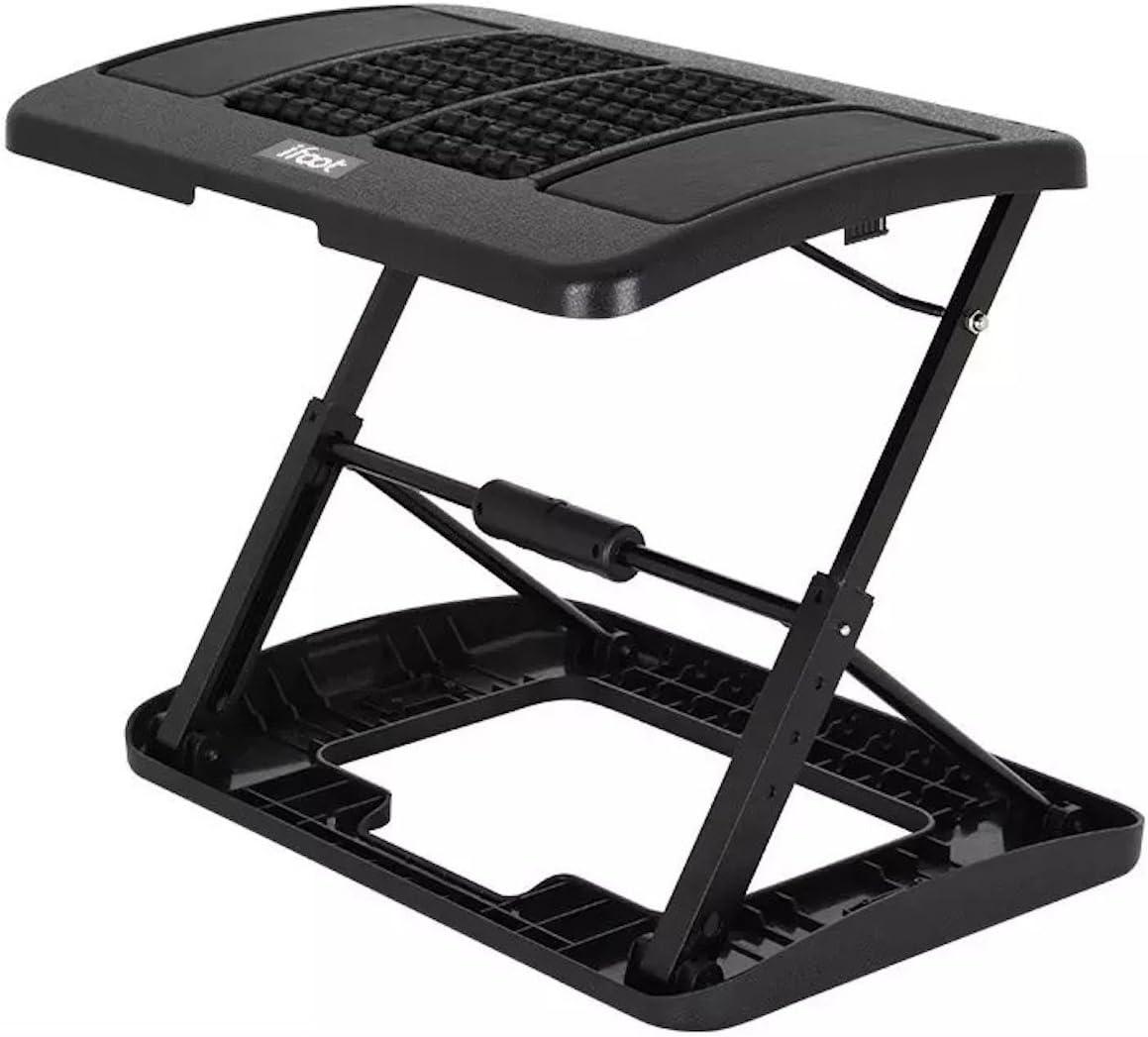 Adjustable Footrest for Home Office, Or Under Desk Ergonomic Massaging Foot Rest (Footstool) (New Massaging)