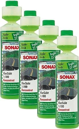 Sonax 4x 03721410 Klarsicht 1 100 Konzentrat Apple Fresh Scheibenreiniger 250ml Auto