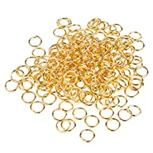 PandaHall Elite Brass Close but Unsoldered Jump Rings 8x1mm for Jewelry Making about 360pcs/bag Golden