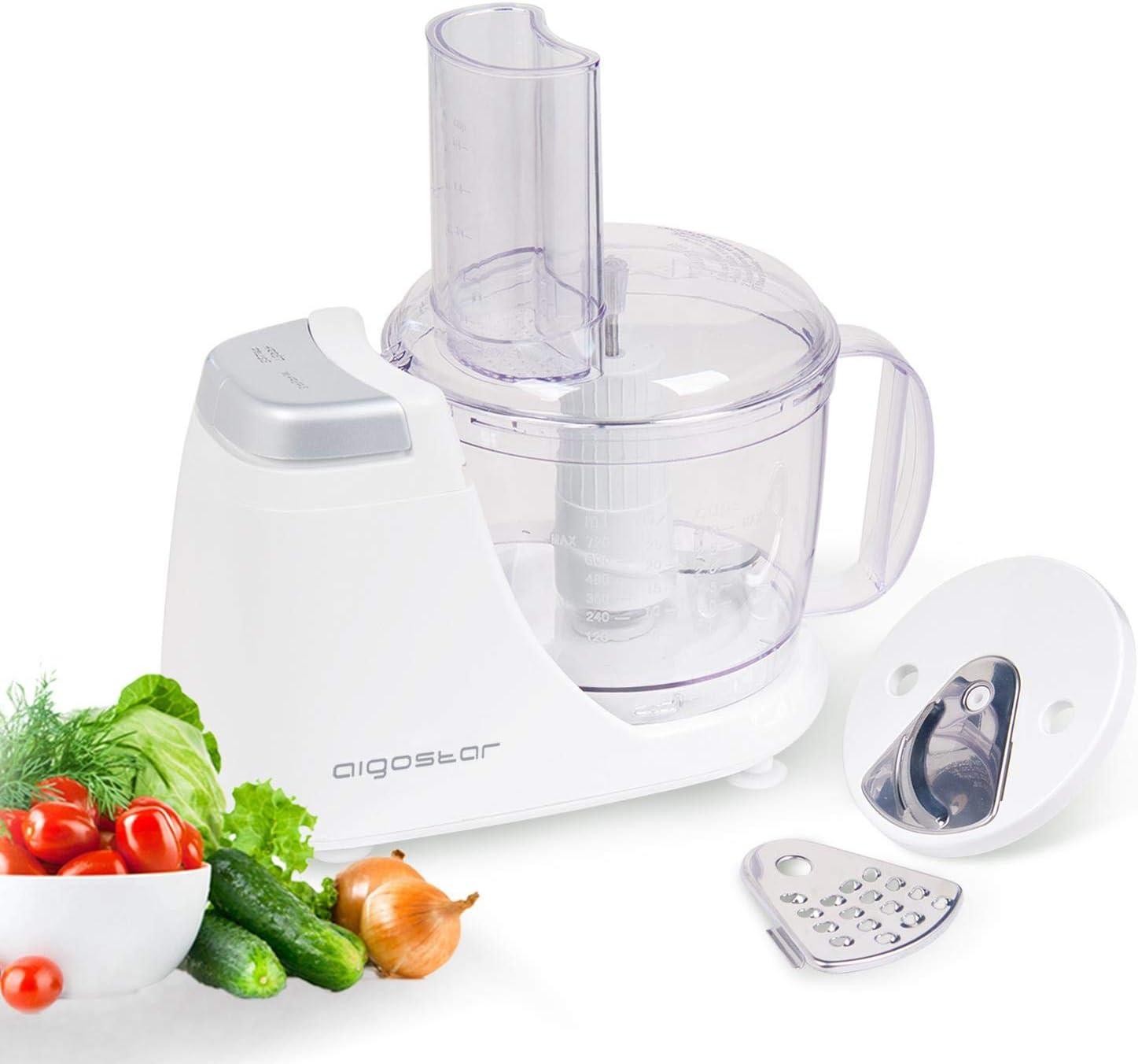 Aigostar VitaFresh 30HLX – Procesador de alimentos 3 en 1, potencia 250 W, incluye 3 cuchillas con distintas funciones y jarra con capacidad de 720 ml. Libre de BPA. Diseño exclusivo.: Amazon.es: Hogar