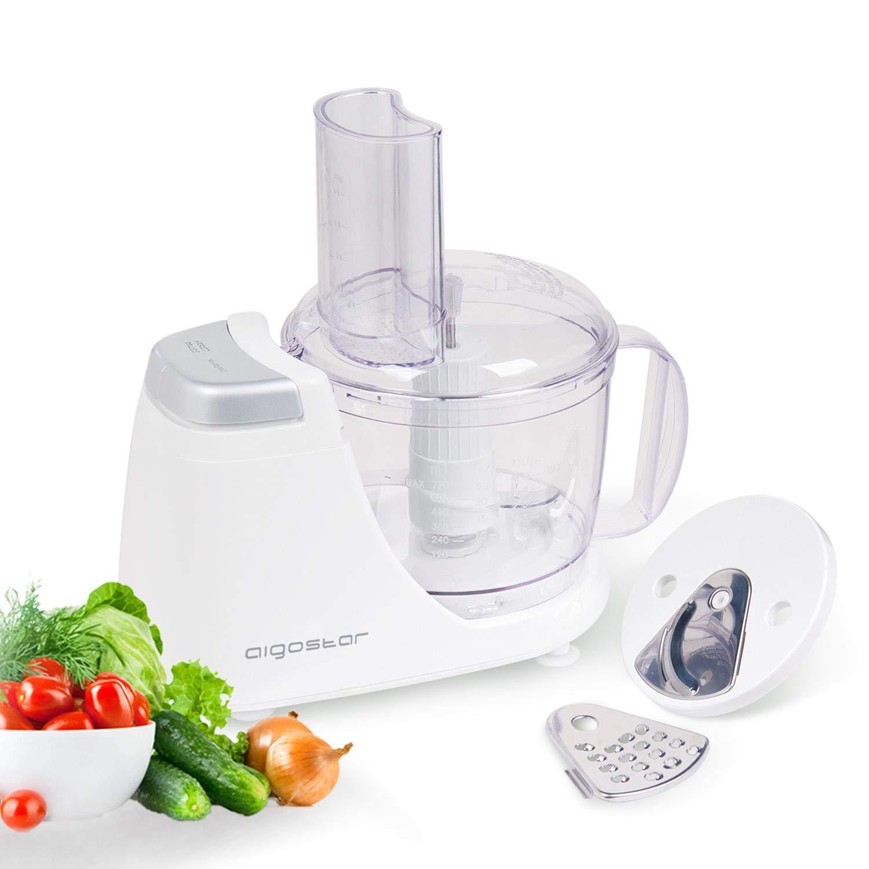 Aigostar VitaFresh 30HLX - Tritatutto e robot da cucina 3 in 1. Potenza da 250W e Capacità da 720ml. BPA FREE. Design Esclusivo.
