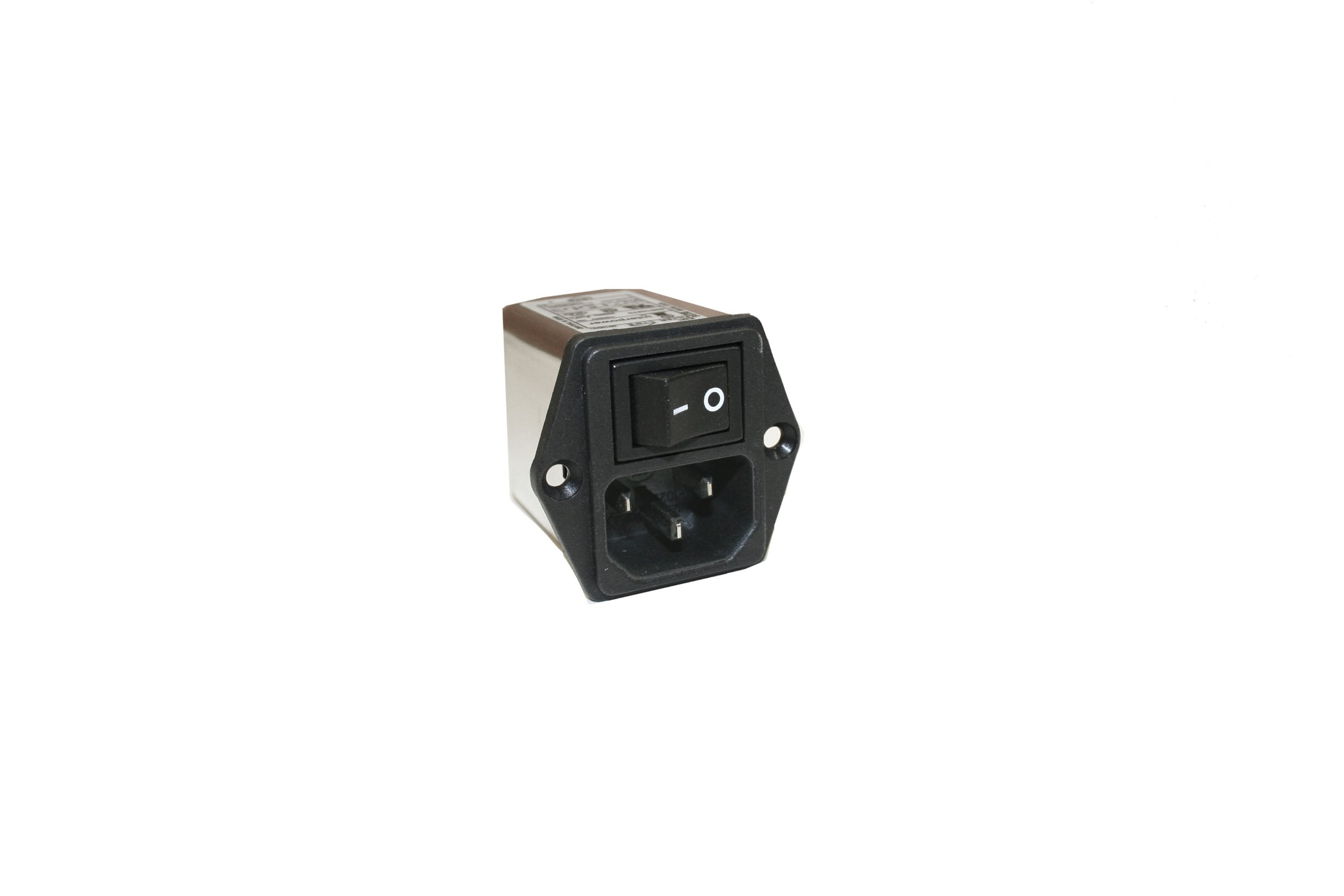 Interpower 83510470 Three Function Module, C14 Inlet, Switch, Filter, 10A Current Rating, 115/250VAC Voltage Rating