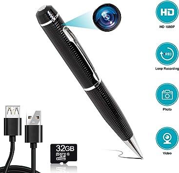 32GB Hidden Spy Rec Pen Cam Camera Nanny DVR Video Recorder Mini Spy Pen Cam NEW