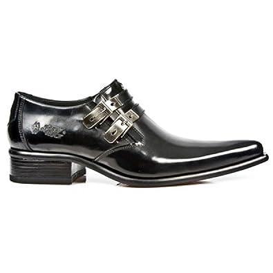 Les Nouveaux Hommes Noirs Rock Cuir Étroit Style Formel Chaussures De Sport - M.2246.s20 (eu 41, Noir)