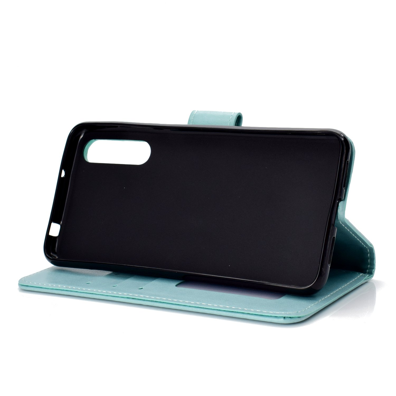 Funda de Cuero con Cartera para Tarjetas y Cierre Magnetico Soporte Plegable Carcasa Libro Antigolpes para Huawei P20Pro Huawei P20 Pro LOHHA10994 Azul Lomogo Funda