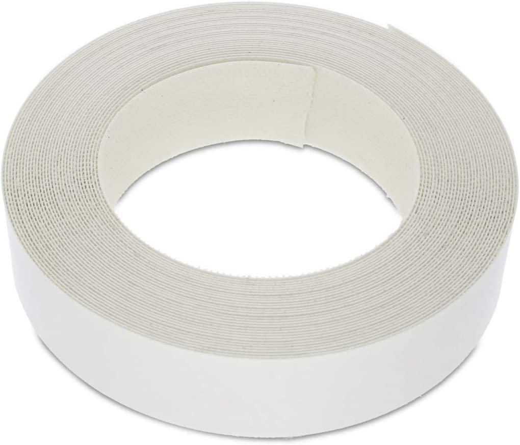 7/8 Inches (22mm) Pearlised White Melamine Edge Banding, Pre-Glued Veneer Tape – 25 Foot (7.5 Meter) Roll - Iron-On for Easy DIY Application – Will Cover The Edge of a Standard MDF Panel