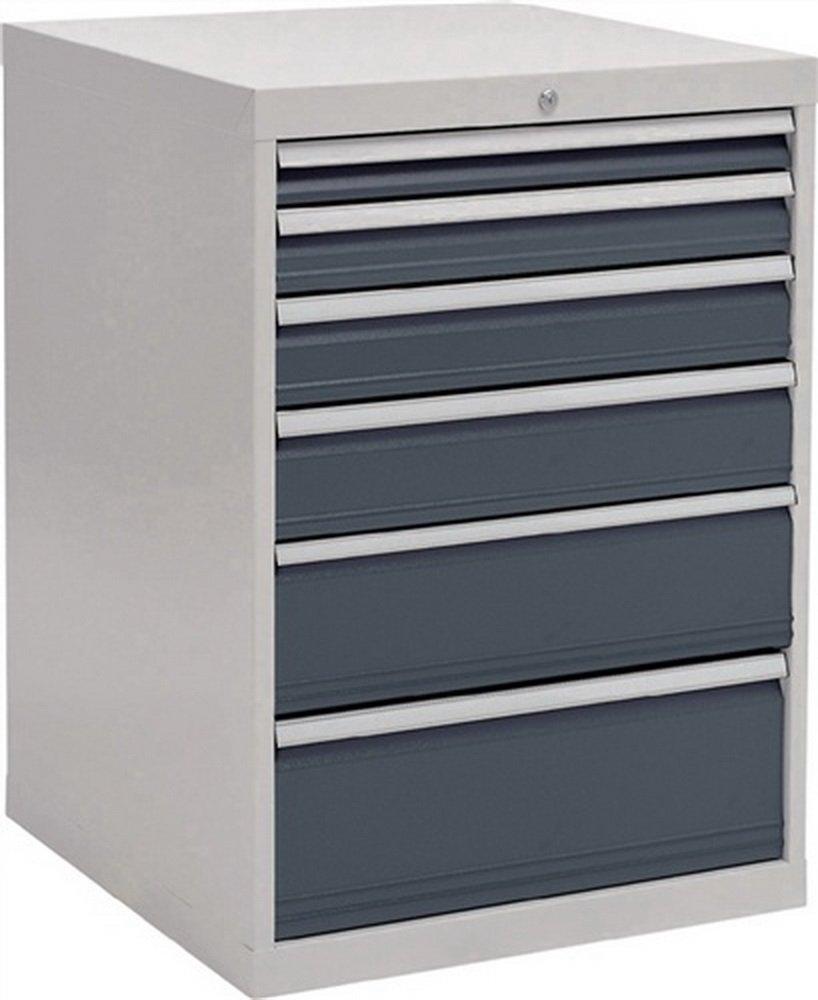 Schubladenschrank H1019xB705xT736 grau/anthr. 1x75 1x100 1x125 1x150 1x200 1x250