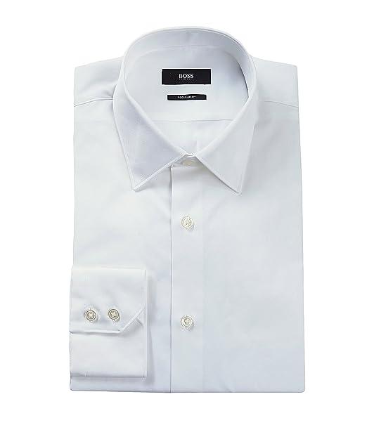 Nos Gulio   ajuste Regular, Modificado punto cuello algodón vestido camisa by BOSS