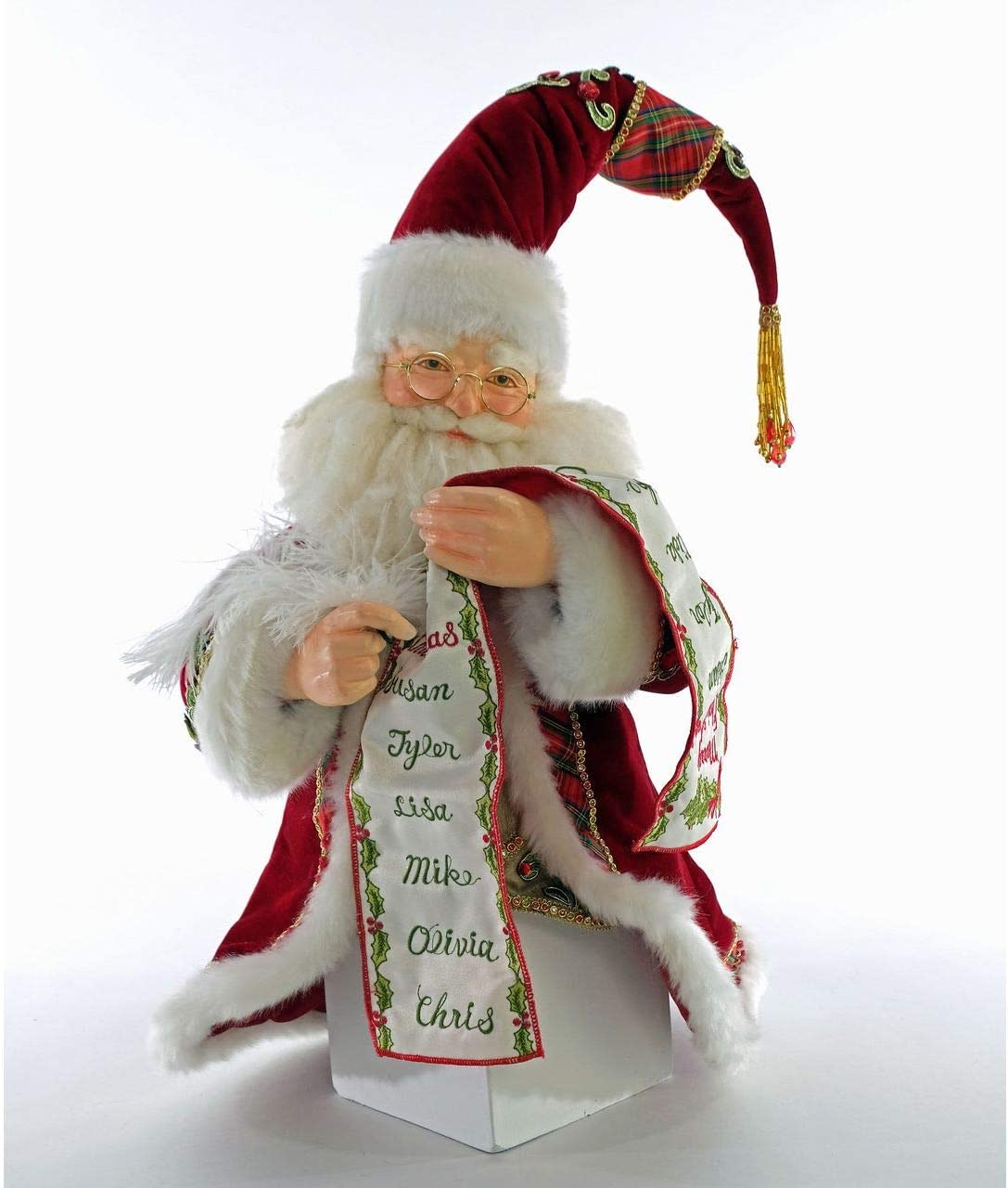 Twinkling Treasures 3D Blinking Christmas Ornament CHRISTMAS SANTA CLAUS