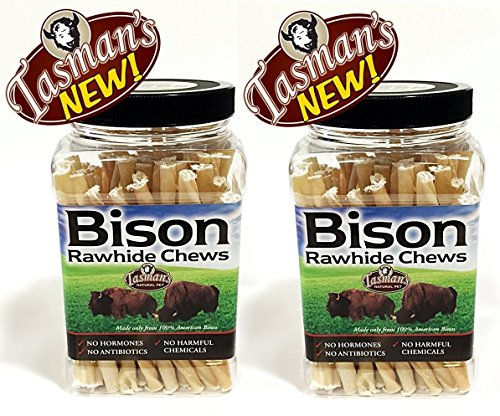 Tasman's Natural Pet 2 Pack of Small Bison Twisters, 75 Count Per Pack