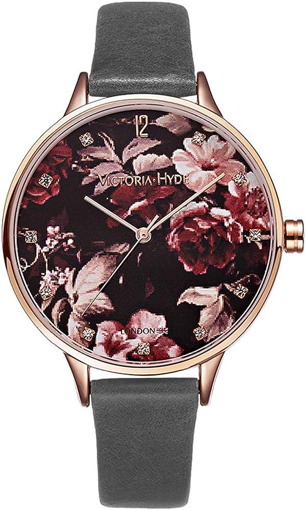 VICTORIA HYDE Analog Quartz Watches Women Floral Patt 5 ☆ Max 67% OFF popular for Casual
