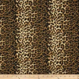 leopard upholstery fabric - Carr Textile Poly/Cotton Twill Leopard Print Brown/Cream, Brown/Cream
