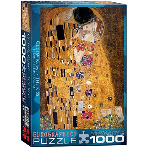 Gustav Klimt The Kiss 1000 Piece Jigsaw Puzzle by Eurographics (Arts Kiss)
