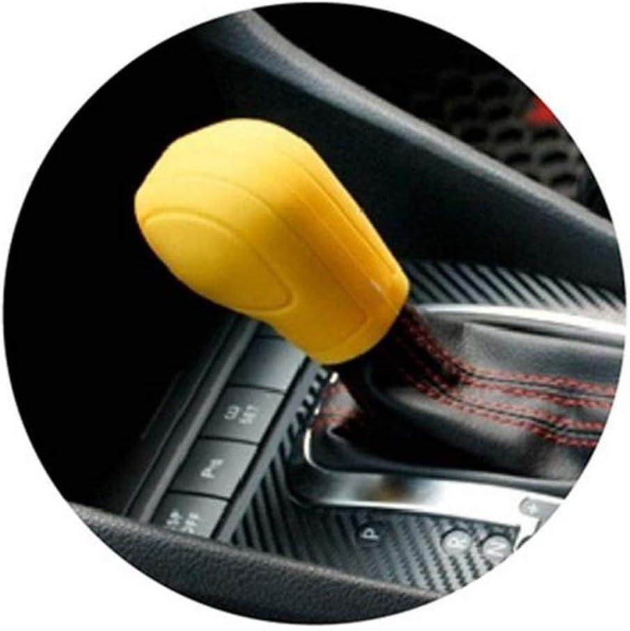Soft Silicone Car Gear Shift Knob Cover Non Slip Universal Automatic Shift Stick Handle Protector Black