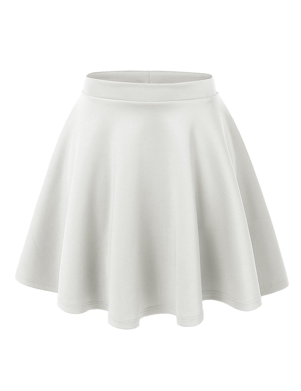 UUファッション女性用プラスサイズ基本的な万能ストレッチフレアスケータースカート B0755L4V37 1X|Wb1034 Wb1034_white_white Wb1034 B0755L4V37_white 1X, arcole(アルコレ):959fea49 --- mail.meramatbazar.com