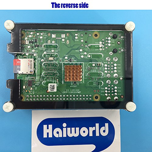 Haiworld RPI Starter Kit For Raspberry Pi 3 b / 2b, 3.5'' TFT TouchScreen + Sliced 9 Layers Case + Heat sinks + 5V 2.5A Power Supply + GPIO Board + Ribbon Cable + Cooling Fan + 150 Mbps WiFi by Haiworld (Image #5)