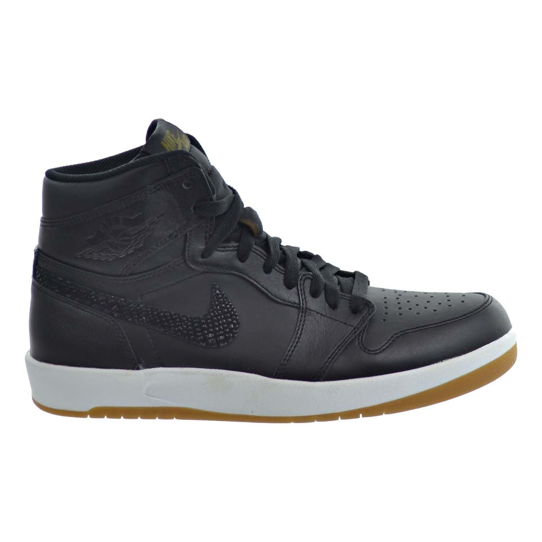 Air Jordan 1 High The Return Men's Shoes Black/Militia Green/White 768861-008