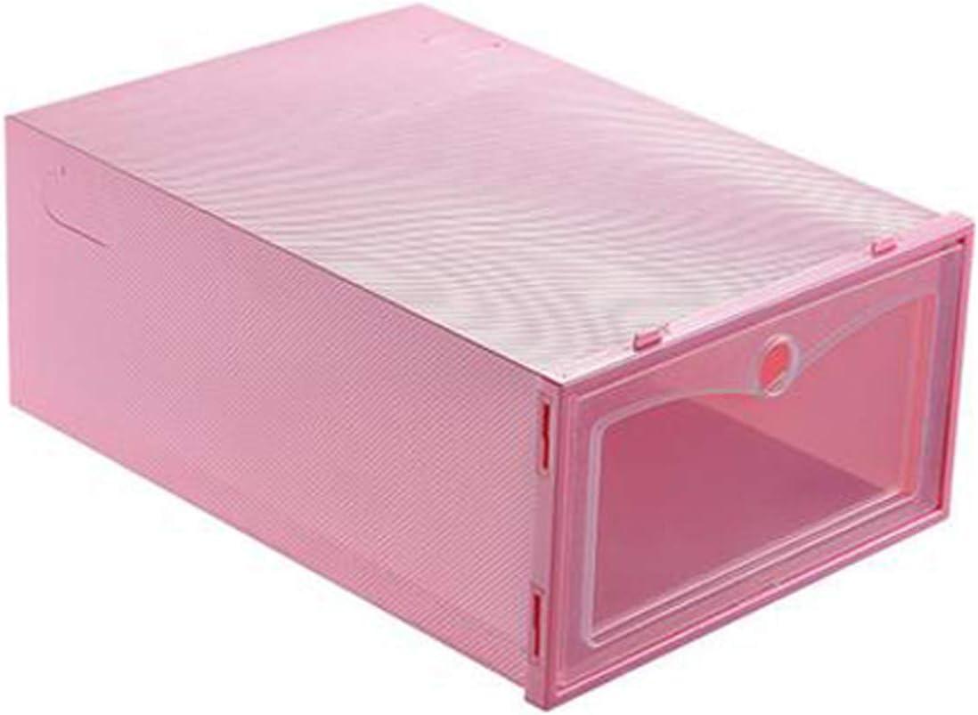 Clear Plastic Shoes Storage Box Stackable Shoe Organizer Space-Saving Closet Organizer Shoe Container for Sneaker S5E5X Shoe Box Heel Sandal