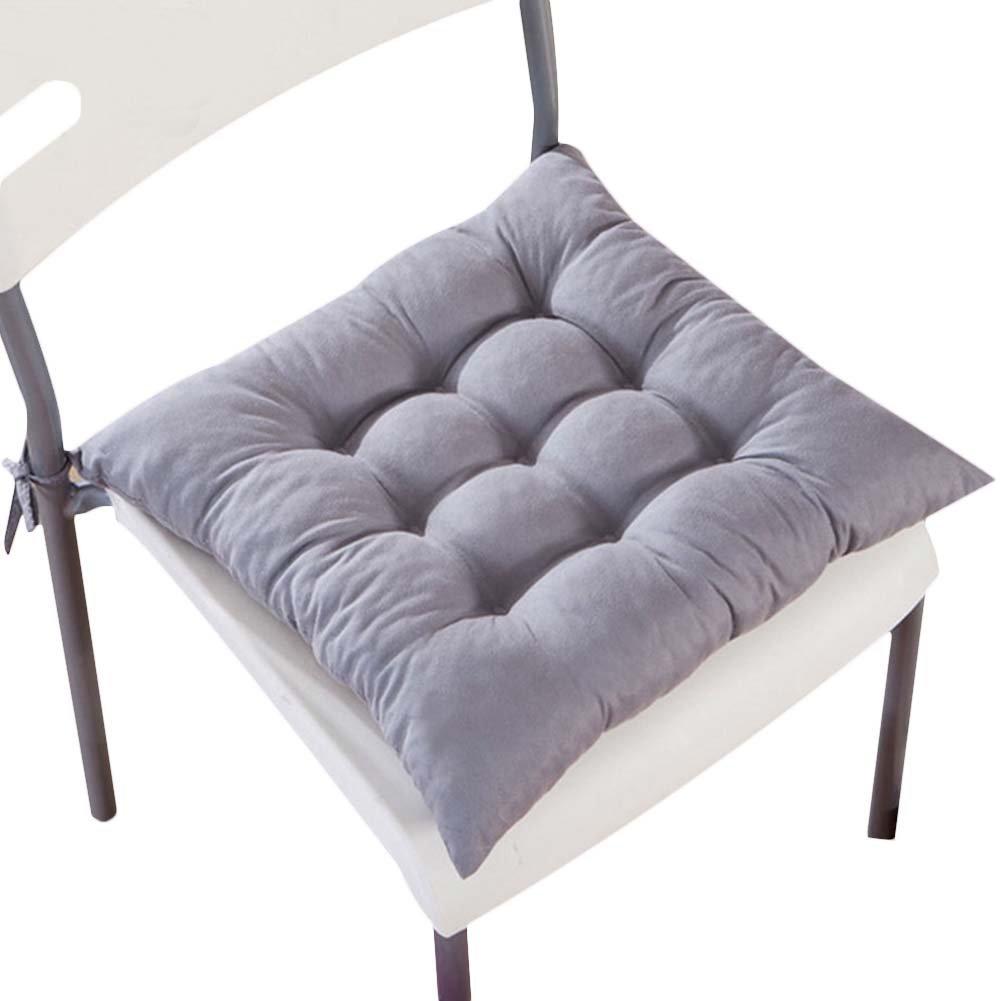 ホームオフィスインドアSquare椅子パッド枕カラフルなシートクッションwith Ties ,のセット4pcs 16