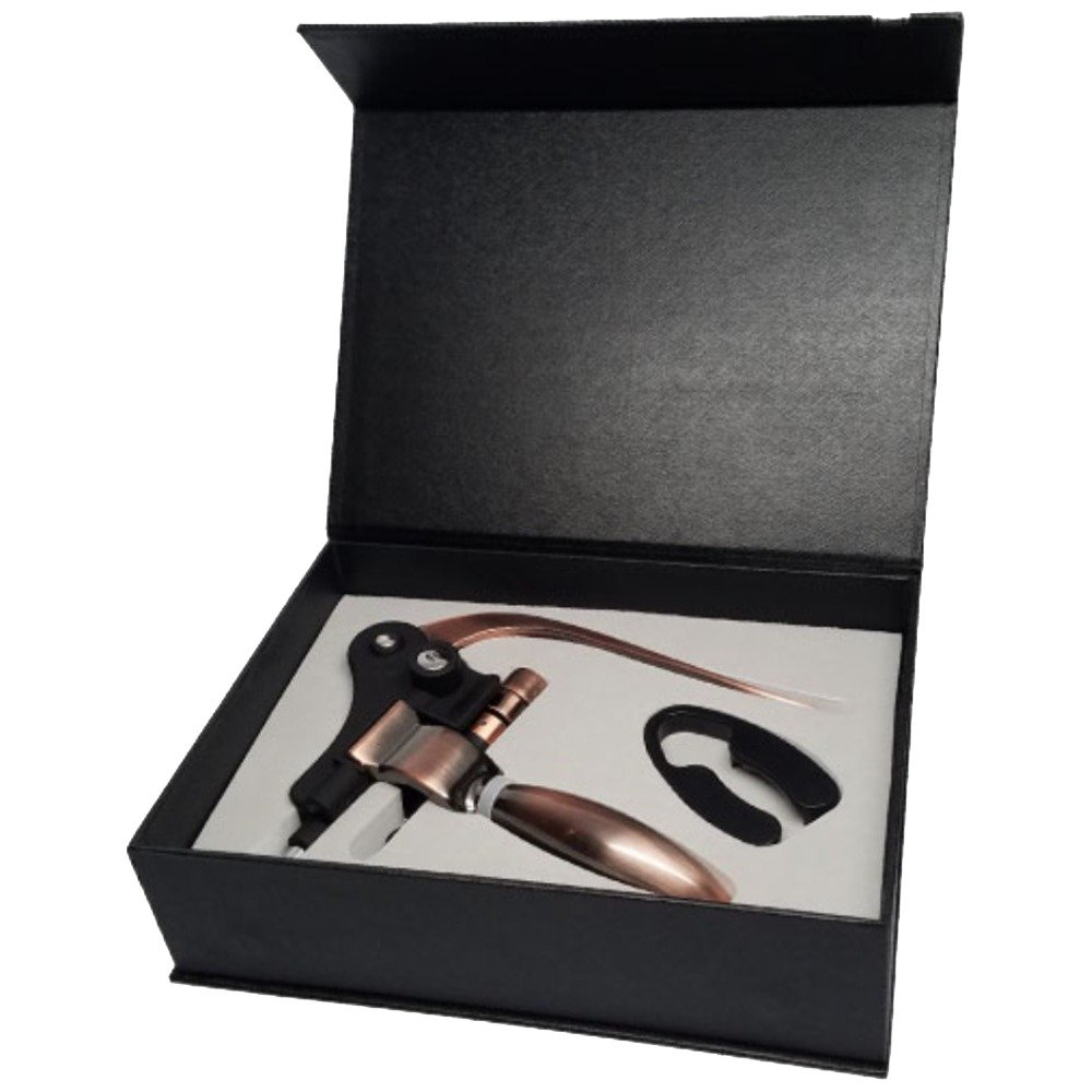 Style Lever Corkscrew Wine Bottle Opener with Foil Cutter and Extra Spiral Gift Set SYNCHKG084354